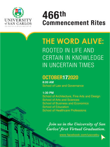 virtual 466th commencement rites
